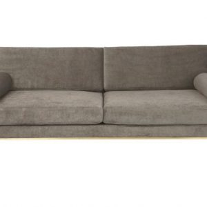 Cozy Living Club velvet sofa - Platinum